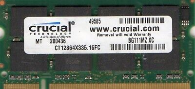 1GB Apple iBook/iMac G4 1GHz 1.25GHz 1.33GHz  / A1010 / A1054 DDR Laptop Memory, used for sale  Shipping to Canada