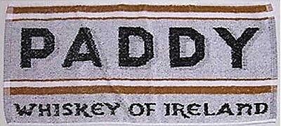 "Paddy Irish Whiskey Cotton Bar Towel 20"" x 10"" (pp)"