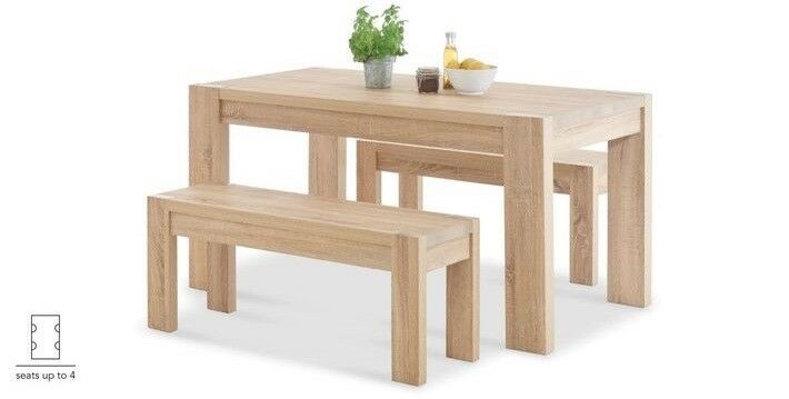 Brilliant Next Corsica Light Oak Dining Table And Bench Set In Bournemouth Dorset Gumtree Gmtry Best Dining Table And Chair Ideas Images Gmtryco