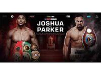 JOSHUA VS PARKER CLOSE FLOOR TICKETS X2