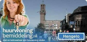 Hengelo Ov-Centrum, 3-k. appartement, 78 m2(720,- euro p/m).