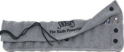 Sack Ups AC801 Silicone Treated Gray Cotton Knife Protector Roll Holds 12 Knives