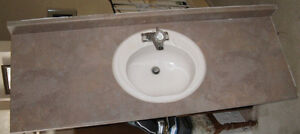 Bathroom Counter Top with Sink and Tap