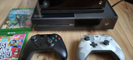 Xbox one with 2 controllers, Kinect, 2 Games. £150