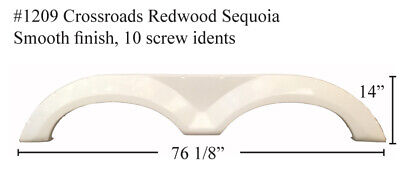 CROSSROADS RV Fender Skirt  FIBERGLASS #1209 Colonial white color