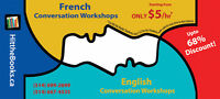 French/English Group Language Classes from ONLY $5/hr!