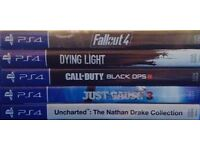 5 PlayStation 4 Games, All in Perfect Condition.