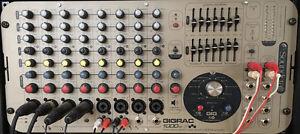 Amplificateur de puissance et mixeur GigRac 1000st stéréo