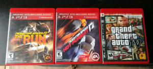 3 ps3 games. Need for speed x2 and gta iv