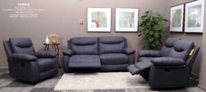 THREE PIECE UPHOLSTER SOFA WITH RECLINER FOR SALE.....