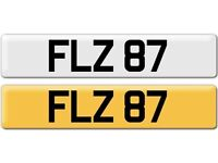 *FLZ 87* Dateless Personalised Cherished Number Plate Audi BMW M3 Ford VW Caddy Mercedes Vauxhall