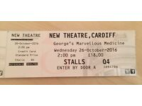 4 X George's Marvellous Medicine tickets - Wed 26th Oct