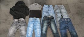 Boys clothes bundle jeans size 6-7 years