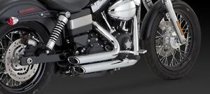 Vance & Hines Staggered Short Shots Exhaust Chrome For Harley