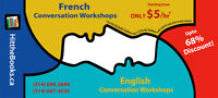 Summer French classes start next week! ONLY $7/hr for students!