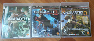 Jeux PS3 Uncharted 1,2 & 3 Playstation 3 serie