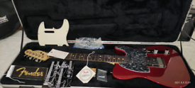 Fender Telecaster USA 2005 red. With upgrades and Fender hard case.