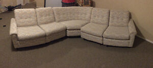 Beige sofa couch sectional
