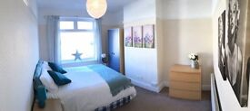 Large double bedroom in professional refurbished house - bills/cleaner included