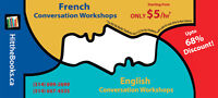 French One-Month Intensive Workshop, Mini-Group As LOW As $7/hr!