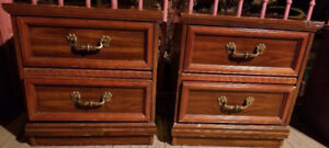 """Bedroom 2 Drawers Night Table Set  (22""""Wx22""""Hx16""""D)"""