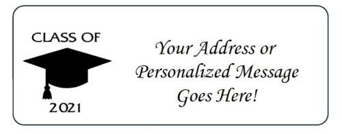 60 Personalized Class of 2021 Graduation Return Address Labels