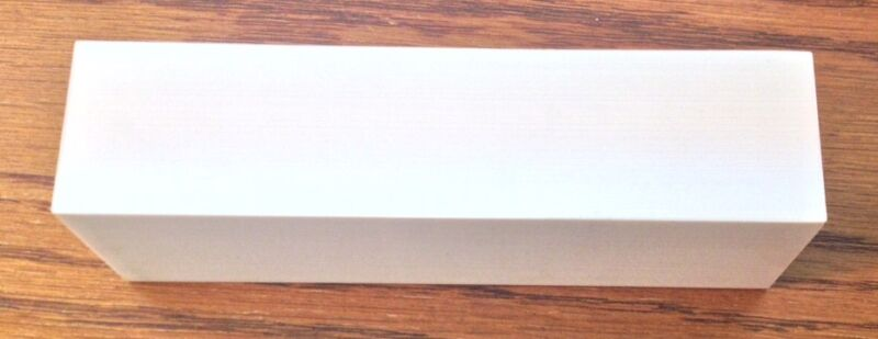 "1 Block White ELFORYN Without Grain - Knife Handle Material 1.1""  x 1.5"" x 4.75"""