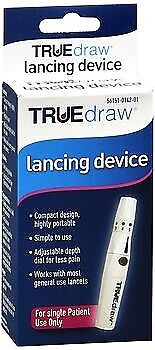 TRUEdraw Lancing Device KV1390 Pen Diabetic Blood Glucose Testing