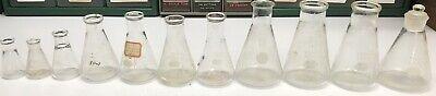 11 Erlenmeyer Flask Pyrex Lot