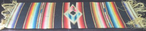 ETHNIC AMERICAN VINTAGE HAND WOVEN TEXTILE SMALL TABLE RUNNER UU14