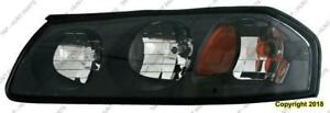 Head Lamp Driver Side Black Bezel Without Enter Bulb Shield [From February 6Th 2004 To 2005] Chevrolet Impala