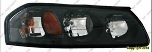 Head Lamp Passenger Side Black Bezel Without Enter Bulb Shield [From February 6Th 2004 To 2005] Chevrolet Impala