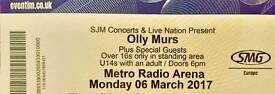 Olly Murs tickets x2 for 6.3.17