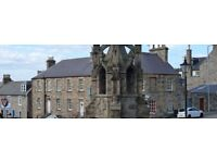 1 bedroom flat to rent / CULLEN Banffshire / part furnished / immaculate condition / max 6 months