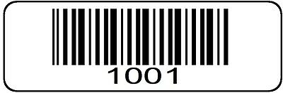 1001 2000 Serial Barcode Sequential Sticker Consecutive Number Label Set 2