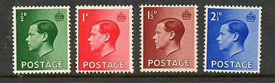 GB 1936 Edward VIII SG457-460 unmounted mint set of stamps