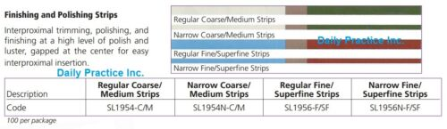 Johnson-Promident Composite Finishing & Polishing Strips All Grits Width Box/100