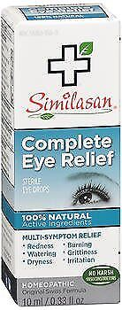 Similasan Complete Eye Relief Sterile Eye Drops - 0.33 oz, Pack of 6