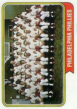 1974 Topps #383 Philadelphia Phillies TC EX-EXMT FREE SHIP Philadelphia Phill