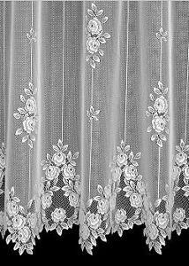 Heritage Lace White TEA ROSE Curtain Panel 60