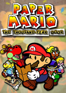Paper Mario: The Thousand Year Door with original case