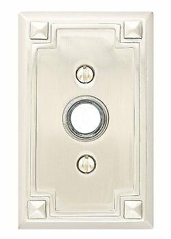- Emtek Arts & Crafts Arts & Crafts Rectangular Door Bell Button
