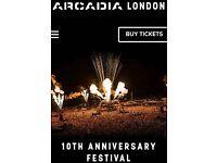 X2 arcadia tickets london saturday