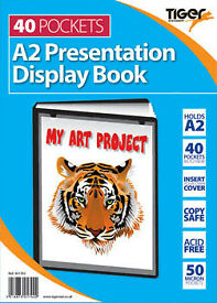 A2 40pkt Presentation Display Book Black
