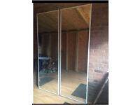 Mirrored wardrobe doors X 2