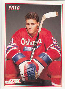 ERIC LINDROS .... 1990-91 SCORE .... 5-card factory insert set