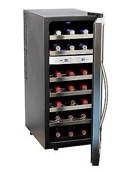 Whynter 21 Bottle Dual Temperature Zone Wine Cooler Stainless Steel -