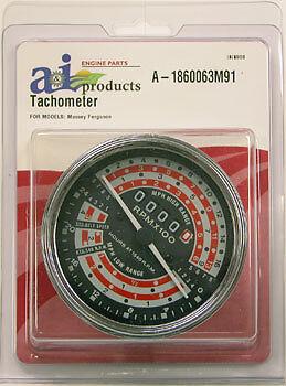 A-1860063m91 For Massey Ferguson Tachometer Mph 165 175 178 180
