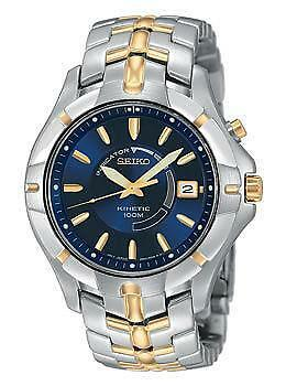 Mens Seiko Kinetic Watch Two Tone Ebay