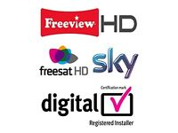 Digital TV Aerial & SKY engineer Satellite, TV Wall Mount - repair & installation, Alarm CCTV system